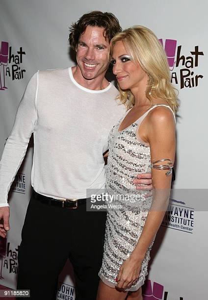 Dr Rutledge Taylor and actress/singer Deborah Gibson arrives at 'What A Pair 7' the seventh annual celebrity concert benefiting the John Wayne Cancer...