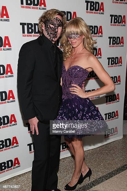 Dr Rutledge Taylor and Debbie Gibson attend the 2014 Great Imitator Masquerade Ball at Pier Sixty at Chelsea Piers on May 1 2014 in New York City