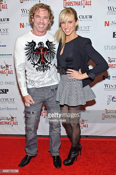 Dr Rutledge Taylor and Debbie Gibson attend the world premiere of Dee Snider's Rock And Roll Christmas Tale at Broadway Playhouse at Water Tower...