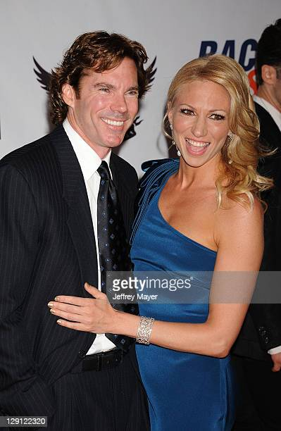 Dr Rutledge Taylor and Deborah Gibson arrive at the 18th Annual Race To Erase MS at the Hyatt Regency Century Plaza on April 29 2011 in Century City...