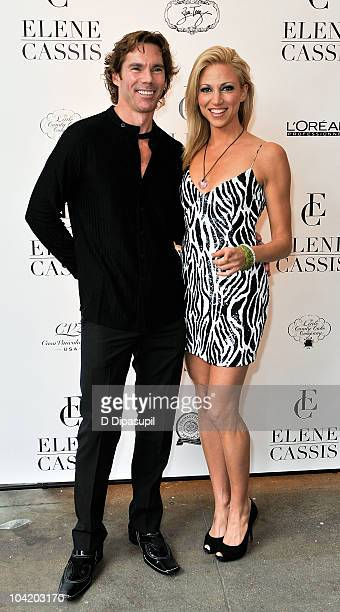 Dr. Rutledge Taylor and Deborah Gibson attend the Elene Cassis Spring 2011 fashion show during Mercedes-Benz Fashion Week at Exit Art on September...
