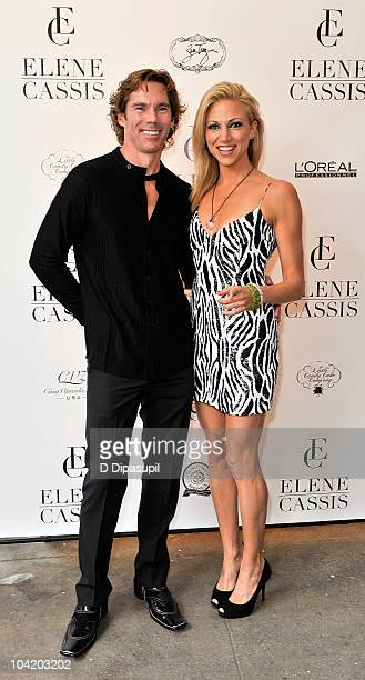 Dr Rutledge Taylor and Deborah Gibson attend the Elene Cassis Spring 2011 fashion show during MercedesBenz Fashion Week at Exit Art on September 16...