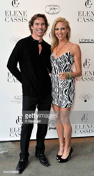 Dr Rutledge Taylor and Deborah Gibson attends the Elene Cassis Spring 2011 fashion show during MercedesBenz Fashion Week at Exit Art on September 16...