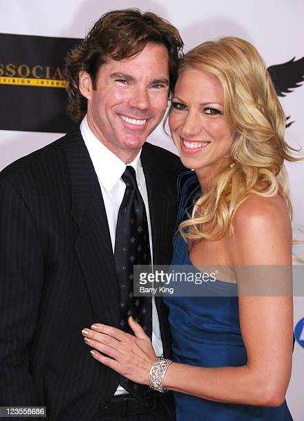 Dr. Rutledge Taylor and singer Deborah Gibson arrive at the 18th Annual Race To Erase MS Event at the Hyatt Regency Century Plaza on April 29, 2011...