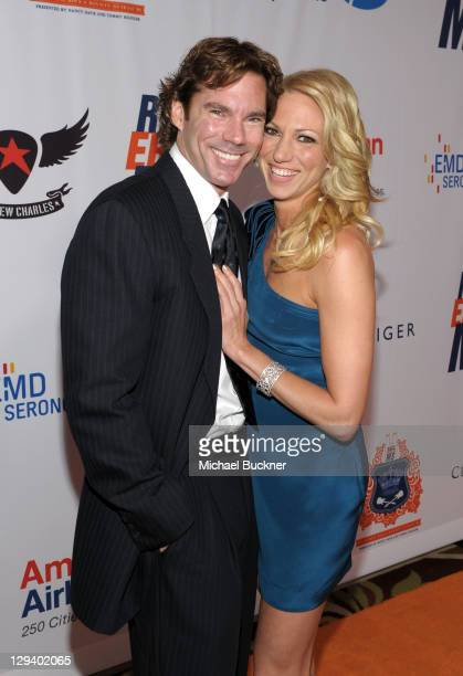 Dr. Rutledge Taylor and singer Deborah Gibson arrive at the 18th Annual Race to Erase MS event co-chaired by Nancy Davis and Tommy Hilfiger at the...
