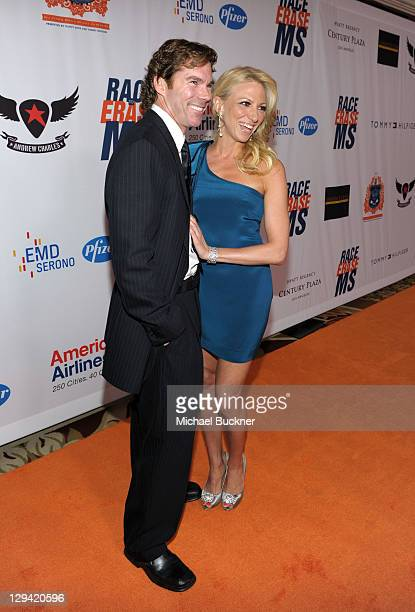 Dr Rutledge Taylor and singer Deborah Gibson arrive at the 18th Annual Race to Erase MS event cochaired by Nancy Davis and Tommy Hilfiger at the...