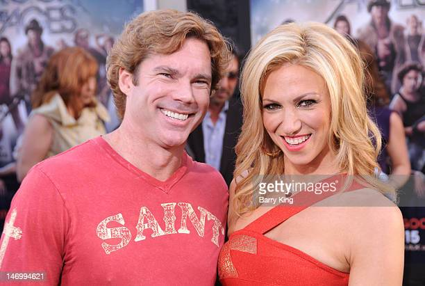 Dr Rutledge Taylor and singer/actress Deborah Gibson arrive at the Los Angeles Premiere Rock of Ages at Grauman's Chinese Theatre on June 8 2012 in...