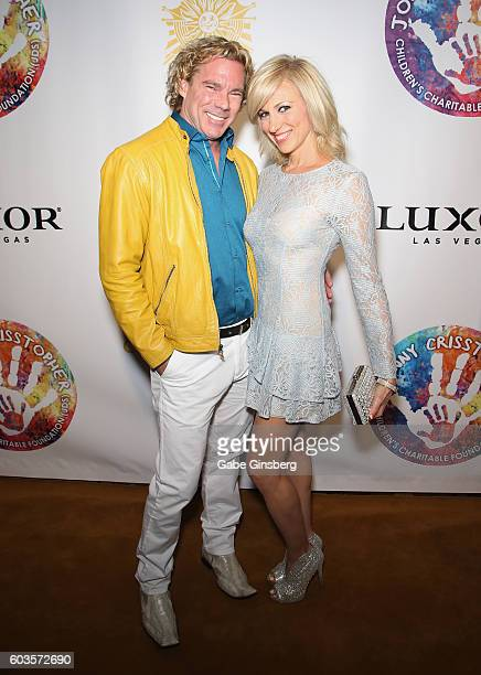 Dr Rutledge Taylor and singer/songwriter Debbie Gibson attend Criss Angel's HELP charity event at the Luxor Hotel and Casino benefiting pediatric...
