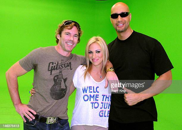 """Dr. Rutledge Taylor, Singer Debbie Gibson and gamer/producer Jace Hall attend the """"Electric Youth Reloaded"""" Video Shoot on June 14, 2012 in Los..."""