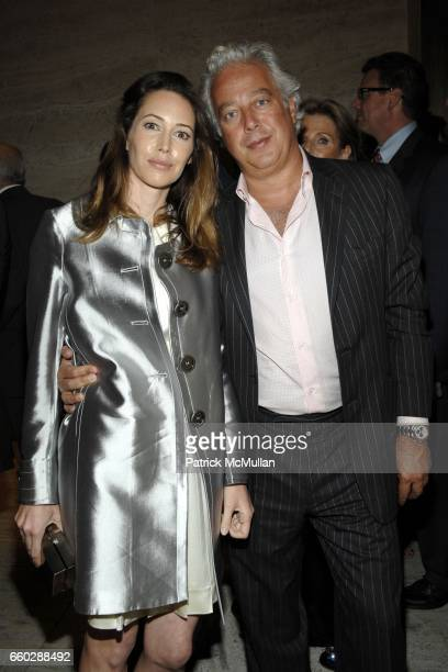 Dr Samantha Boardman Rosen and Aby Rosen attend THE FOUR SEASONS RESTAURANT 50th Anniversary INSIDE at The Four Seasons Restaurant on June 11 2009 in...