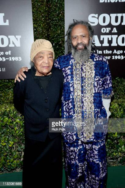 Dr Samella Lewis and Claude Lewis attend The Broad Museum celebration for the opening of Soul Of A Nation Art in the Age of Black Power 19631983 Art...