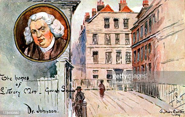 Dr Samuel Johnson 's home in Gough Square London by Sydney Carter 1904 English author and essayist 18 September 1709 13 December 1784