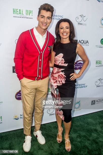Dr Sanda Moldovan and Alex Sparrow attend the Beverly Hills' Famed Periodontist Dr Sanda Moldovan Hosts Go Green Soiree at The Montage on October 14...