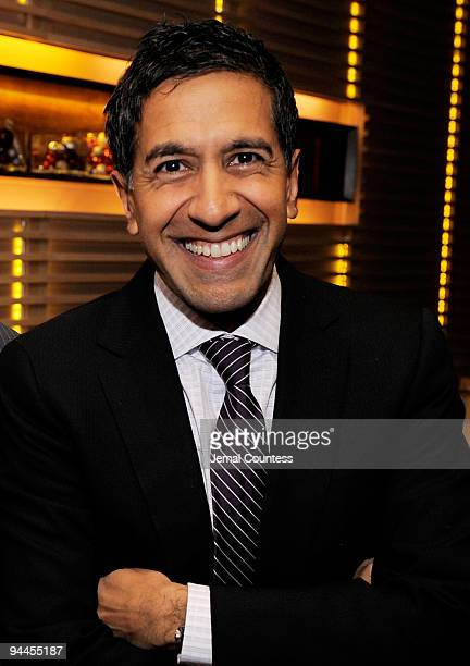 Dr Sanjay Gupt attends CNN's Dr Sanjay Gupta Cheating Death Book Party at Rogue Tomate on December 14 2009 in New York City 19360_001_0046JPG