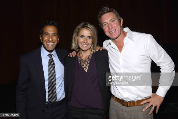 Dr Sanjay Gupta documentary subject Paige Figis and Founder of Realm Clarity Josh Stanley attend the Weed Dr Sanjay Gupta Reports screening at Time...