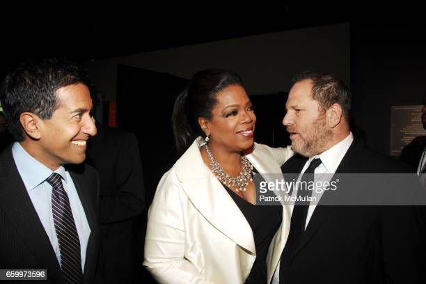 Dr Sanjay Gupta Oprah Winfrey and Harvey Weinstein attend TIME MAGAZINE'S 100 MOST INFLUENTIAL PEOPLE 2009 at Jazz At Lincoln Center on May 5 2009 in...