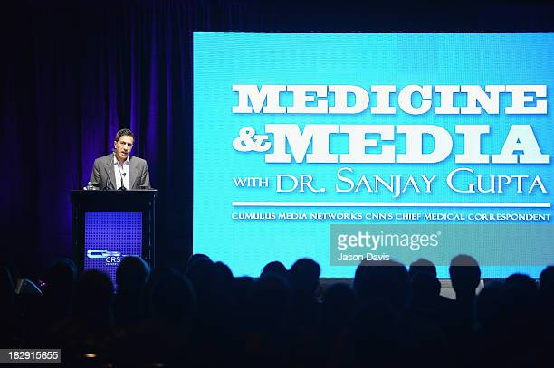 Dr Sanjay Gupta presents Medicine and Media during the Country Radio Seminar 2013 at the Nashville Convention Center on March 1 2013 in Nashville...