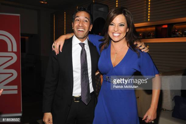 Dr Sanjay Gupta Robin Meade attend the Reception For DR SANJAY GUPTA's Book and DVD CHEATING DEATH at Rogue Tomate on December 14 2009 in New York...