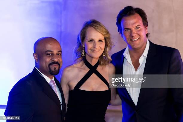Dr Santosh Kesari and Actors Helen Hunt and Jay Huguley attend the Saint John's Health Center Foundation's 75th Anniversary Gala Celebration at 3LABS...