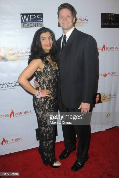 Dr Sarah Larsen and Greg Larsen arrive for the Whispers From Children's Hearts Foundation's 3rd Legacy Charity Gala held at Casa Del Mar on March 24...