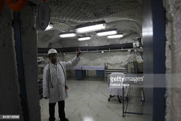 JADUGODA JHARKAHND INDIA SEPTEMBER 02 Dr Satyajit Saha lead researcher from the Saha Institute of Nuclear Physiscs Kolkatta at the underground lab...