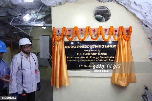 JADUGODA JHARKAHND INDIA SEPTEMBER 02 Dr Sekhar Basu nuclear engineer and Chairman Atomic Energy Commission of India inaugurated and visited the...