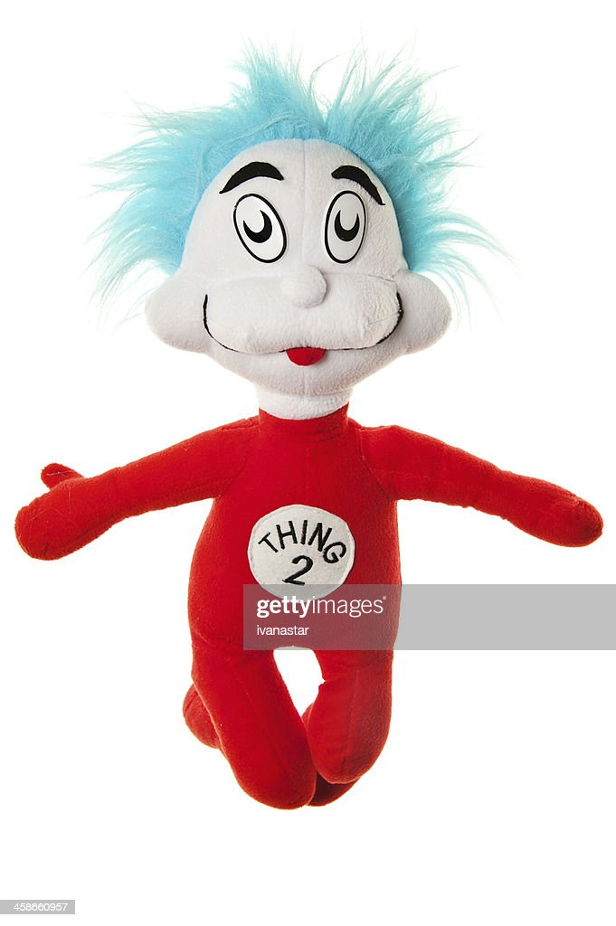 4cb96c6c Dr Seuss Cat In The Hat Thing 2 Plush Toy Stock Photo - Getty Images