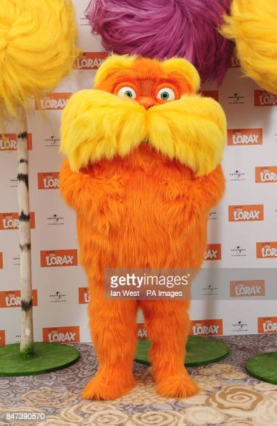 Dr Seuss' The Lorax at a photcall for the new film The Lorax at the Dorchester hotel in London