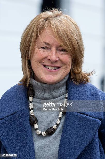 Dr Sharon Bennett, wife of Andrew Mitchell, leaves their home on November 28, 2014 in London, England. A judge ruled yesterday that Andrew Mitchell...