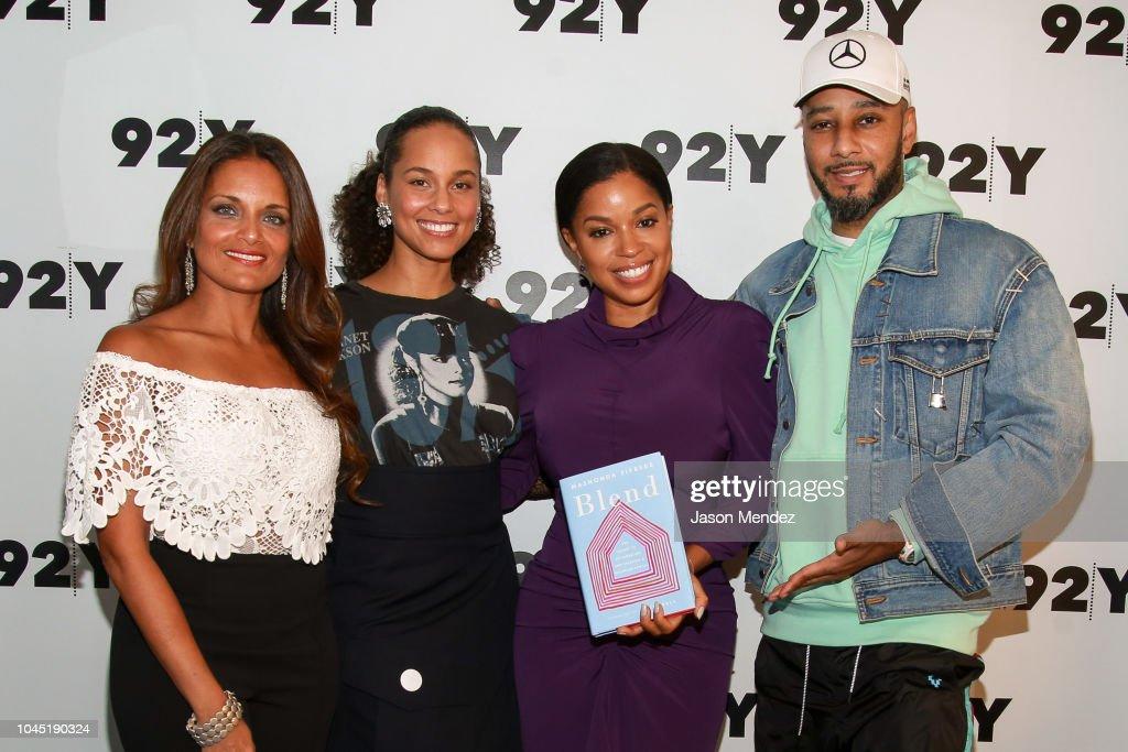 Mashonda Tifrere, Alicia Keys, And Swizz Beatz In Conversation With Dr. Shefali : News Photo