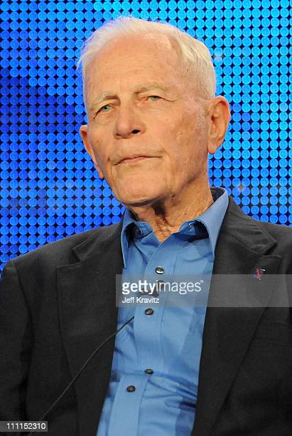 """Dr. Sidney Phillips of """"The Pacific"""" speaks during the HBO portion of the 2010 Television Critics Association Press Tour at the Langham Hotel on..."""