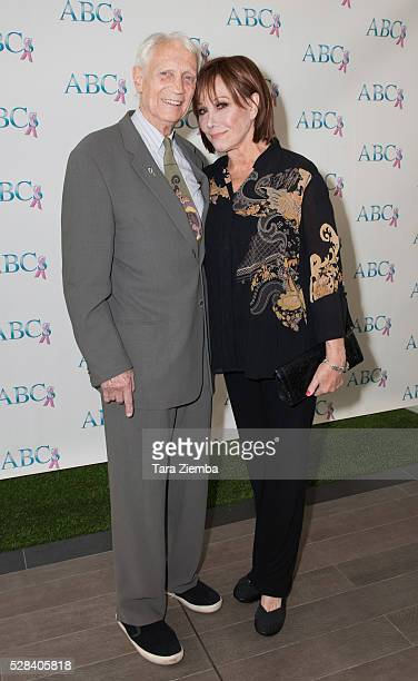 Dr Stanley Frileck and Actress Michele Lee attend ABCs Mother's Day Luncheon at Four Seasons Hotel Los Angeles at Beverly Hills on May 4 2016 in Los...