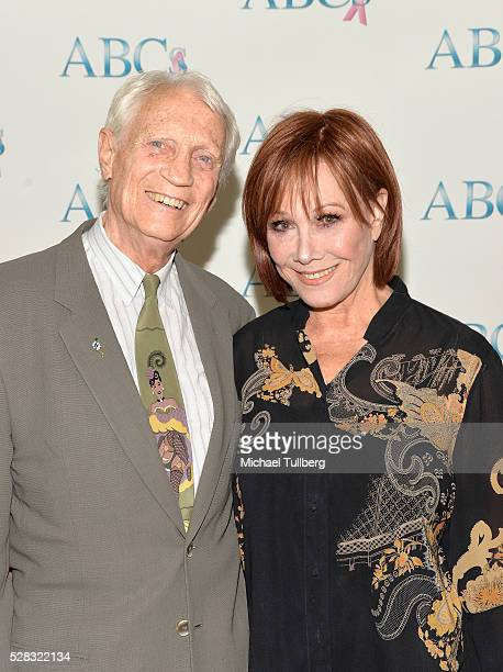 Dr Stanley Frileck and actress Michele Lee attend the Associates For Breast and Prostate Cancer Studies' annual Mother's Day Luncheon at Four Seasons...