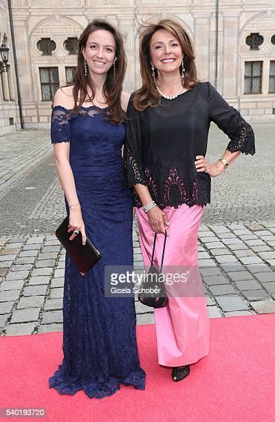 Dr Stefanie von Daemmrich Luttitz and her mother Uschi Daemmrich von Luttitz during a charity dinner hosted by AMADE Deutschland and Roland Berger...