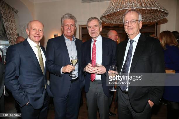 Dr Stephan Galler Dieter Reiter Mayor of Munich Georg Freiherr von Waldenfels Prof Dr Heinrich von Pierer CEO Pierer Consult during the UniCredit and...