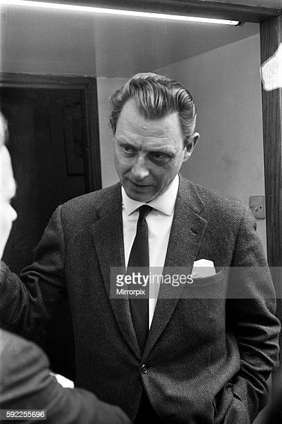 Dr Stephen Ward pictured leaving flat Bryanston Mews West Marylebone London 6th June 1963 Dr Stephen Ward osteopath and artist who became notorious...
