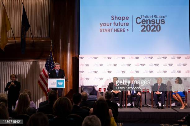 Dr Steven Dillingham United States Census Bureau Director speaks about the upcoming Census 2020 at the National Press Club on April 01 2019 in...
