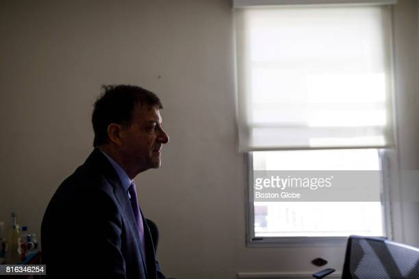 Dr Stewart Levenson chief of medicine at the Manchester VA hospital poses for a portrait inside his office in Manchester NH May 16 2017