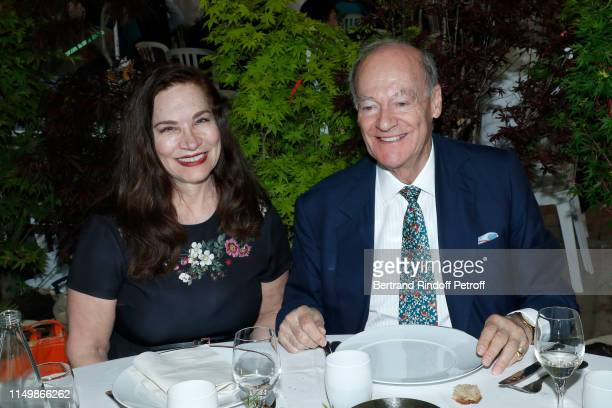 Dr Susan Kendall of Chateau des aigles and Prince Karim Aga Khan attend the Days of Plants 2019 at Chateau de Chantilly on May 17 2019 in Chantilly...