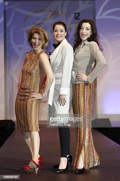 Dr Susanne Holst Annika De Buhr Isabella Vertes Schütter modeling for a good cause at The Event Prominent fashion show at the Grand Elysée in Hamburg