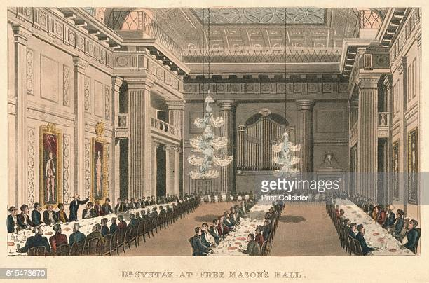 Dr Syntax at Free Mason's Hall' 1820 From The Second Tour of Doctor Syntax In Search of Consolation by William Combe [Ackermann London 1820] Artist...