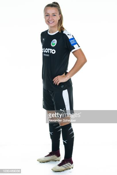 Dr Tanja Pawollek poses during the 1 FFC Frankfurt Women's team presentation on September 7 2018 in Frankfurt am Main Germany i
