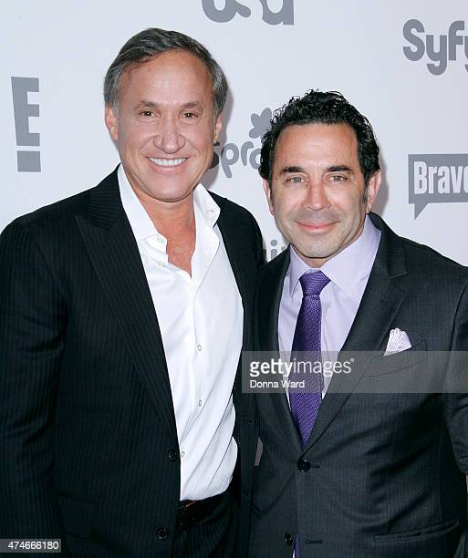 Dr Terry Dubrow and Dr Paul Nassif appear during the 2015 NBCUniversal Cable Entertainment Upfront at The Jacob K Javits Convention Center on May 14...