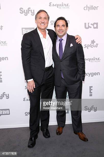 Dr Terry Dubrow and Dr Paul Nassif attend the 2015 NBCUniversal Cable Entertainment Upfront at The Jacob K Javits Convention Center on May 14 2015 in...