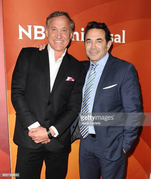 Dr Terry Dubrow and Dr Paul Nassif attend the 2017 NBCUniversal summer press day The Beverly Hilton Hotel on March 20 2017 in Beverly Hills California