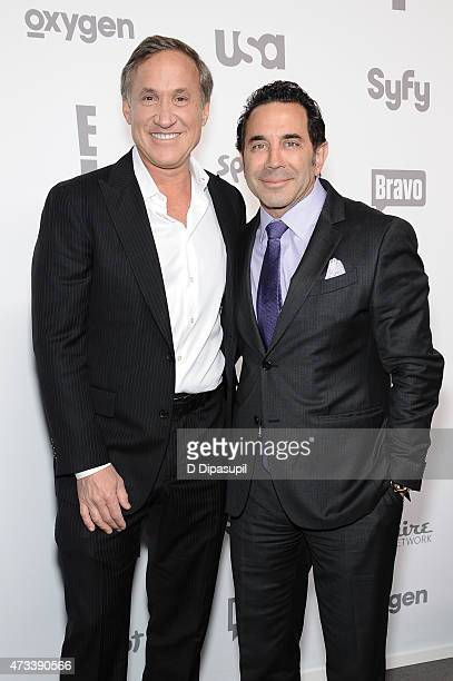 Dr Terry Dubrow and Dr Paul S Nassif attend the 2015 NBCUniversal Cable Entertainment Upfront at The Jacob K Javits Convention Center on May 14 2015...
