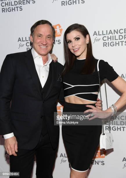 Dr Terry Dubrow and Heather Dubrow attend The Alliance For Children's Rights 26th Annual Dinner at The Beverly Hilton Hotel on March 28 2018 in...