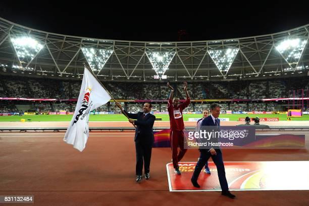 Dr Thani Abdulrahman Al Kuwari, Vice-President IAAF World Championships Doha 2019 and President Qatar Athletics Federation, IAAF President Sebastian...