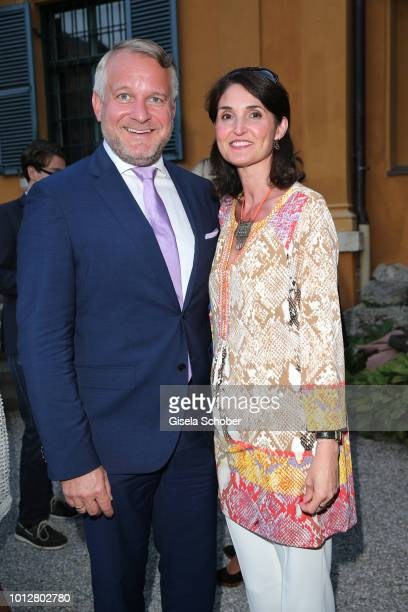 Dr Thomas Girst BMW and Antonella ForteWolf during the summer cocktail party of the Lenbachhaus museum on July 13 2018 at the garden of Lenbachhaus...