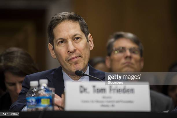 Dr Thomas Tom Frieden director of the Centers for Disease Control and Prevention listens during a Senate Foreign Relations subcommittee hearing in...